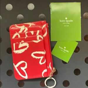 kate spade keychain wallet/card holder